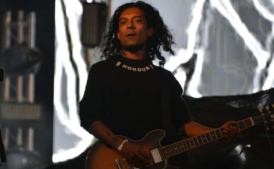 Guitarist Randolph Correia of the band Pentagram onstage at VH1 Supersonic 2018/Firstpost/Karan Pradhan