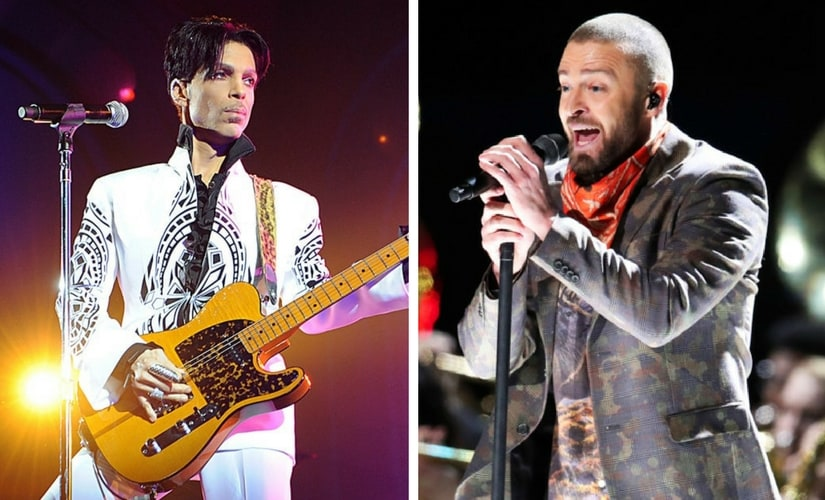 Prince and Justin Timberlake/Image from Twitter.
