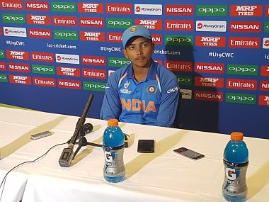 ICC U-19 World Cup 2018: Prithvi Shaw says it is difficult to express his emotions after leading India to their fourth title