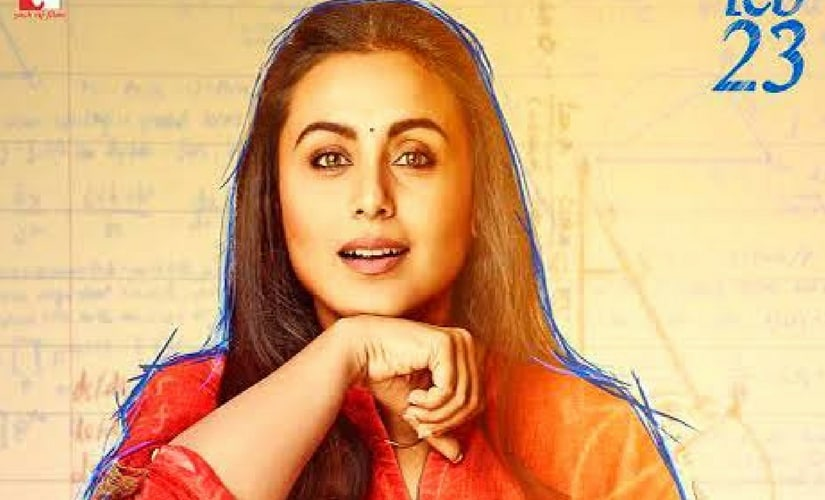 Rani Mukerji on the poster of Hichki/Image from Twitter.