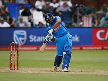 India Rohit Sharma in action during the fifth ODI against South Africa. AFP