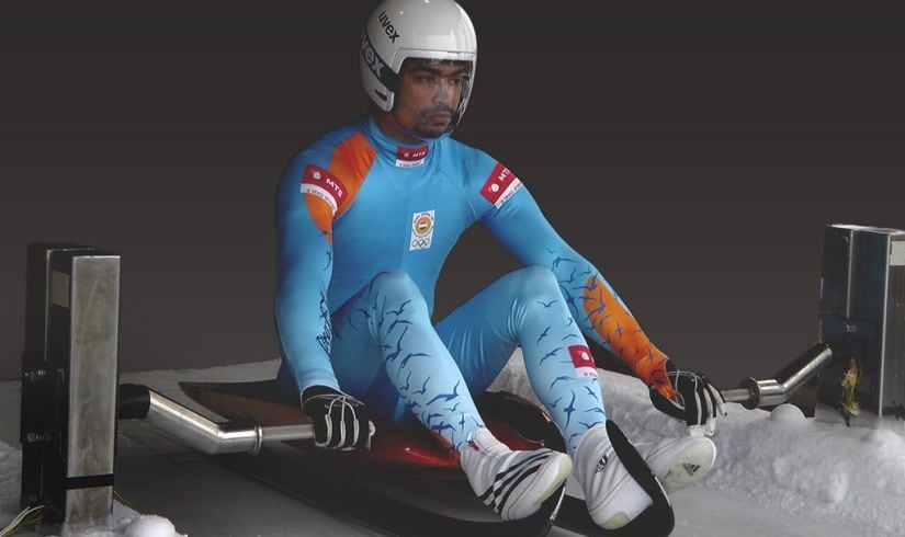 File image of Indian luge pilot Shiva Keshavan. Image courtesy: Twitter/@100thofasec