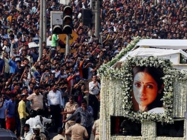 Sridevi accorded state funeral; celebrities, fans pay final respects to the screen legend