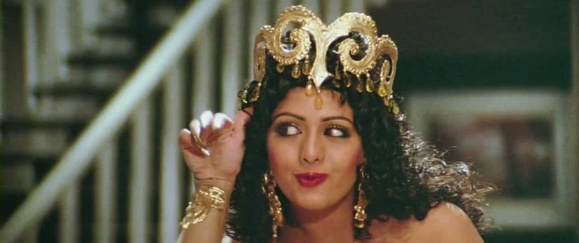Sridevi as Hawa Hawai in Mr India. YouTube screenshot