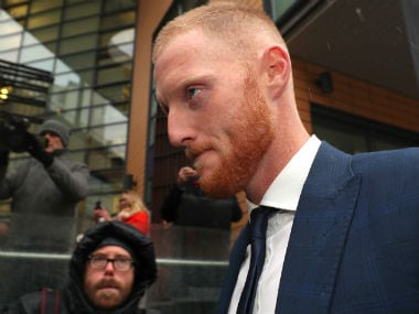 England cricketer Ben Stokes arrives at Bristol Magistrates Court in Bristol. Reuters