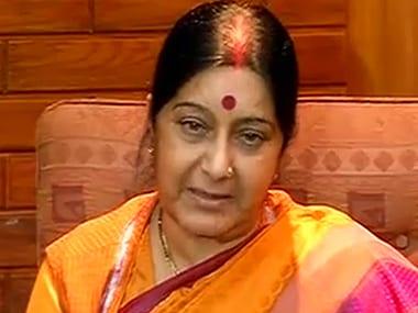 File image of External Affairs Minister Sushma Swaraj. News18