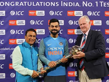 ICC presents Virat Kohli with ICC Test Championship mace as India retain top spot in rankings