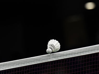 Representative image of badminton shuttle over the net. AFP