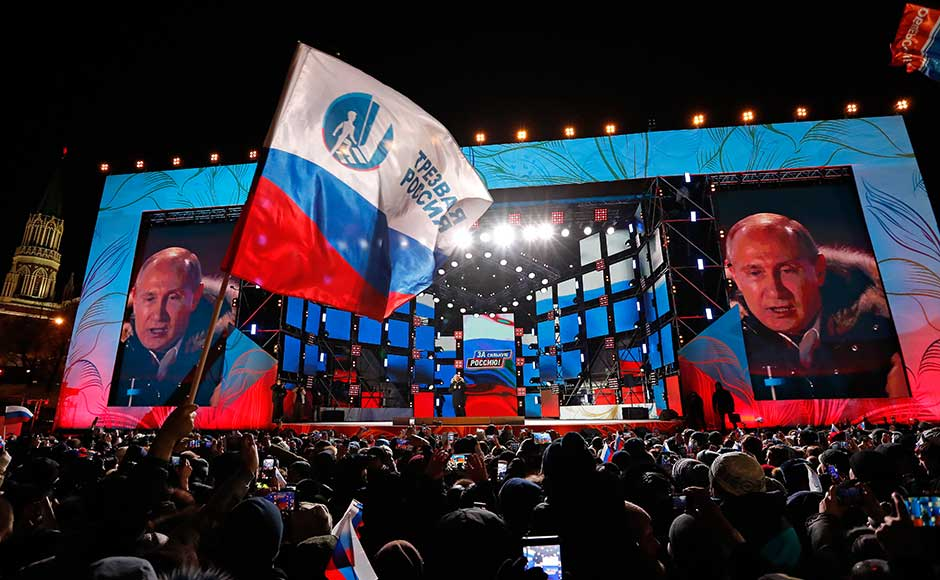 Vladimir Putin retains grip on Russian Federation, exit polls show