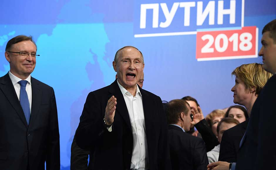 Putin secures another six years at Russia's helm in landslide victory