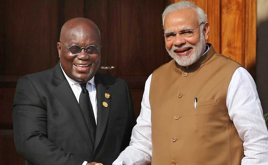 It also called for exploring innovative financing mechanisms that can generate a sustainable market for the deployment of cost-effective solar technologies, coupled with constructive policy initiatives to catalyse public and private investments to reduce the cost of solar projects in developing countries. Modi with Roch Marc Christian Kabore, the President of the Republic of Burkina Faso. AP