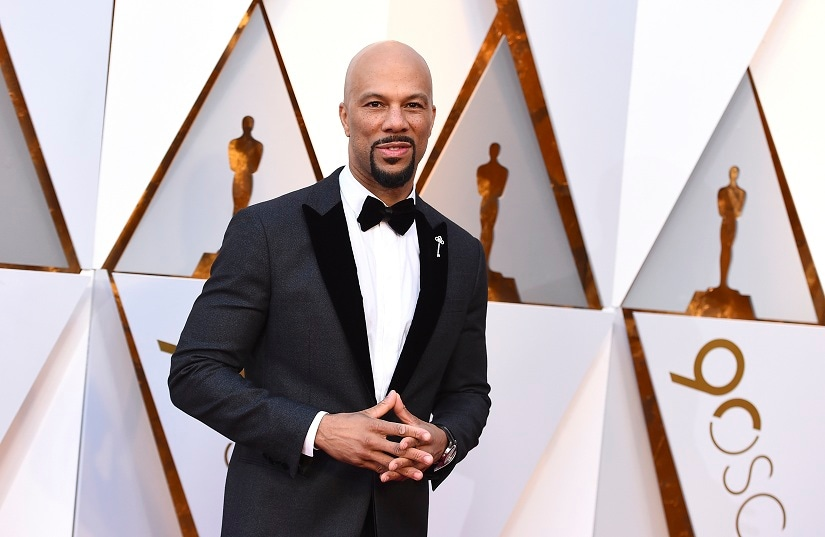 Common arrives at the Oscars on Sunday, March 4, 2018, at the Dolby Theatre in Los Angeles. (Photo by Jordan Strauss/Invision/AP)