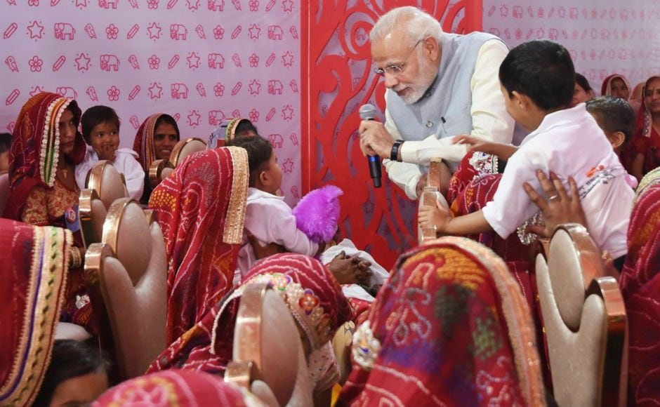 Modi also interacted with beneficiary mothers and girl children during the event. He said that several women have left an indelible mark in the history of humankind through their impeccable work for the society. Twitter@BJP4Rajasthan.