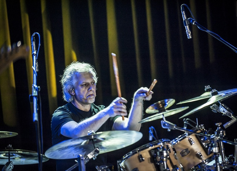 Dave Weckl performs a drum solo during a concert. Image courtesy: Roland Pozsonyi