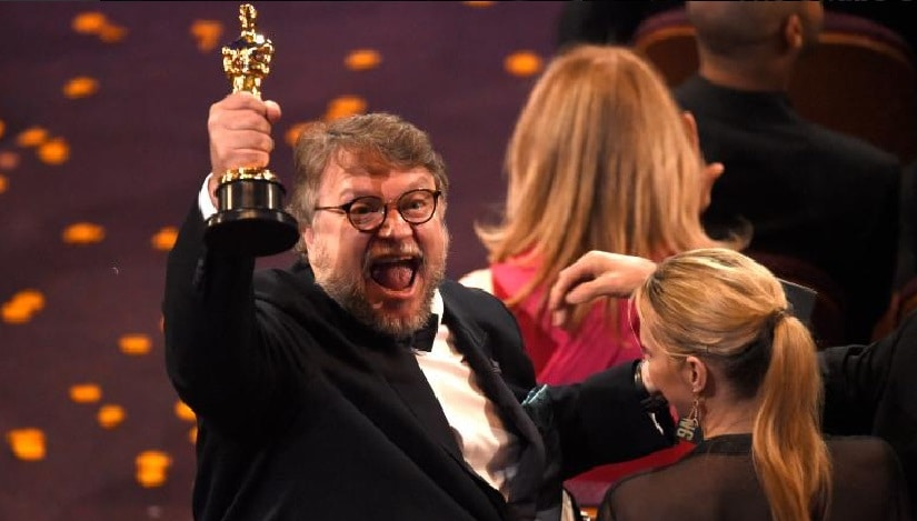 Guillermo del Toro after his Oscar win for Best Director. Image from Twitter/@CNN