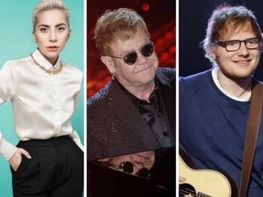 Ed Sheeran, Lady Gaga, Miley Cyrus among artists to sing covers of Elton John's songs across two music albums