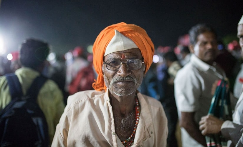 'We have to fight for our rights', asserts 65-year-old Shankar Waghere. Image courtesy: PARI