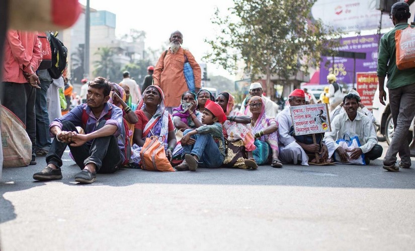 Farmers march on Mumbai to highlight their demands, which the government has repeatedly ignored. Image courtesy: PARI