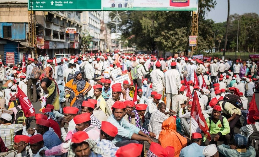 Thousands of farmers started the morcha from CBS Chowk in Nashik on March 6. Image courtesy: PARI
