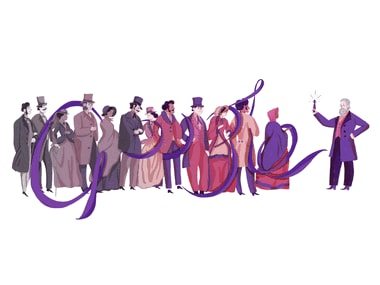 Google Doodle celebrates the 180th birthday of Sir William Henry Perkin who accidentally invented the first synthetic dye
