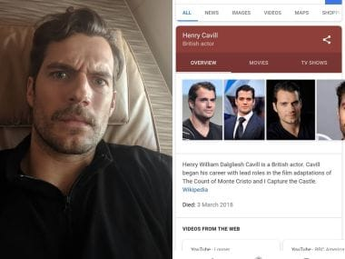 Henry Cavill target of death hoax; Justice League star debunks rumours via Instagram post
