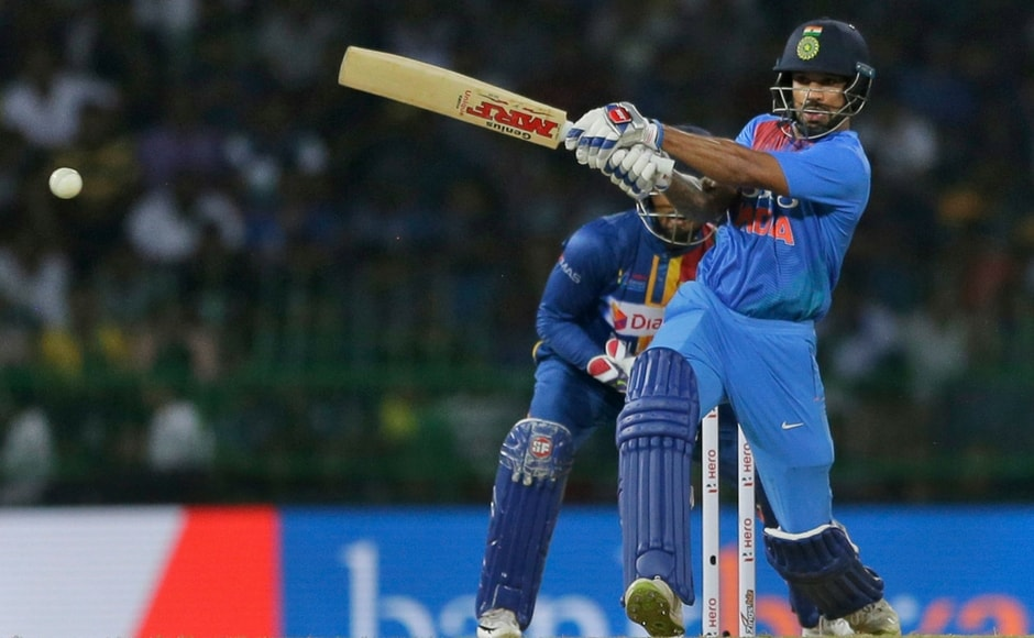Shikhar Dhawan was the standout batsman as he scored a strokeful 90 that saw him hit some powerful blows all over the ground. AP