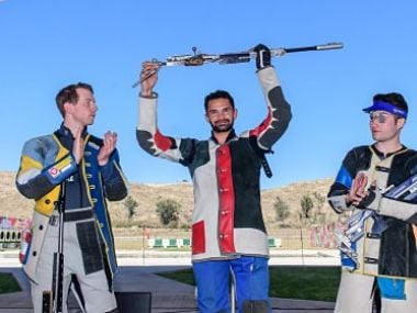 Akhil Sheoran was among the four Indian gold medalists. Twitter/@ISSF_Shooting