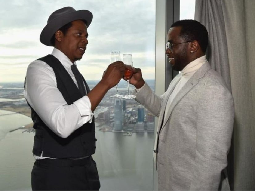 Jay-Z and P Diddy. Image from Twitter/@iam_jberry
