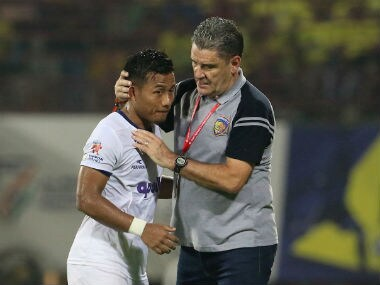 File picture of Jeje Lalpekhlua (L) and John Gregory (R). ISL