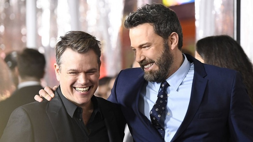 Matt Damon and Ben Affleck. Image from Twitter/@THR