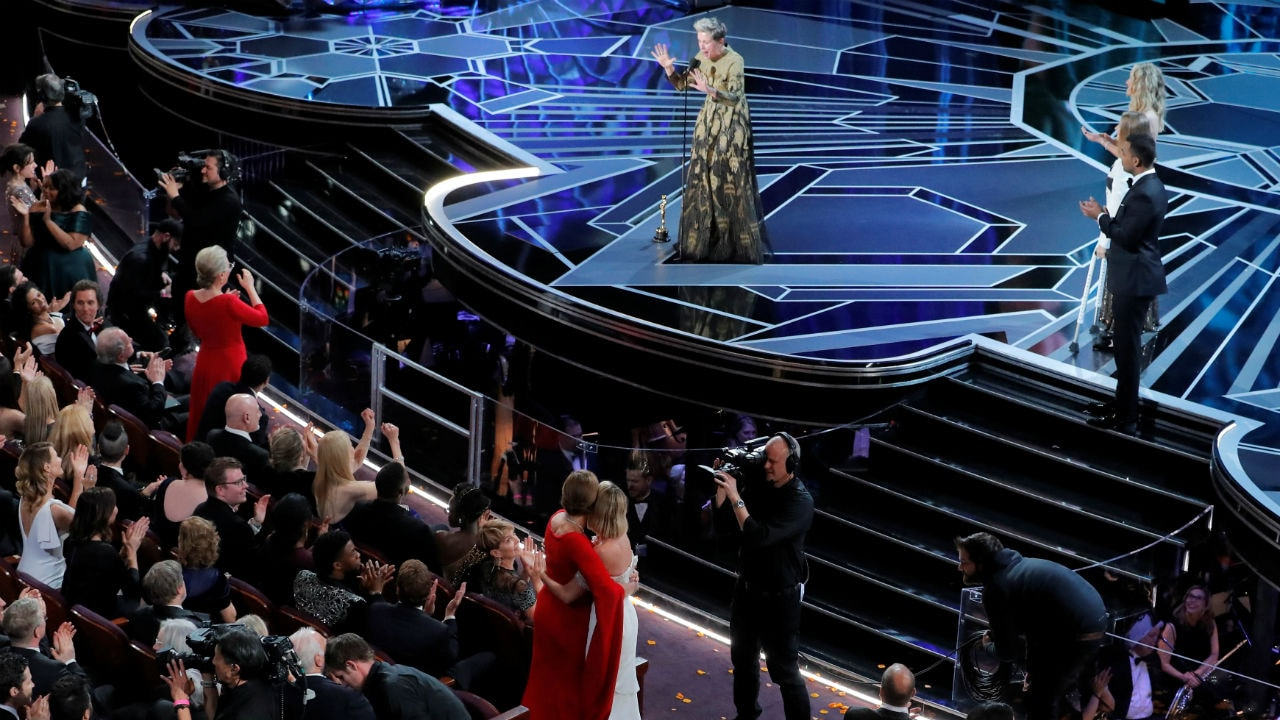 Frances McDormand singles out women during Oscars broadcast