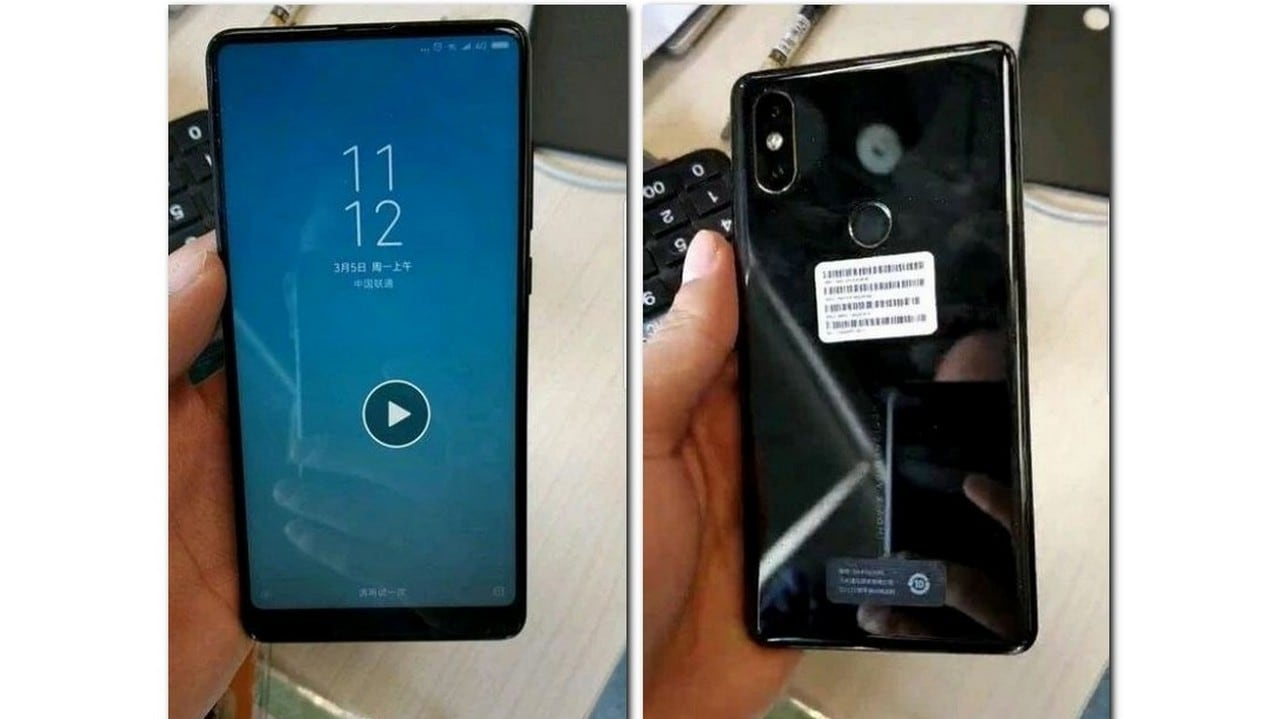 Image leak of Xiaomi Mi Mix 2S front and rear. Image Weibo