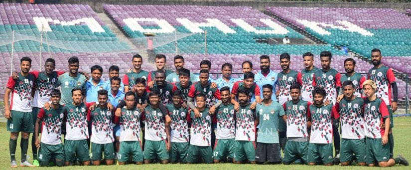 Mohun Bagan still have a cnahcne of claiming the Hero I-League title on the final day when they take on Gokulam Kerala FC. Twitter/@Mohun_Bagan