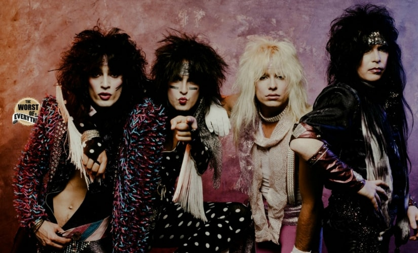 Mötley Crüe in the 1980's/Image from Twitter.