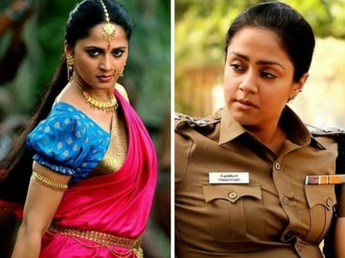 Anushka Shetty may essay Jyothika's role of foul-mouthed police officer in Naachiyaar Telugu remake