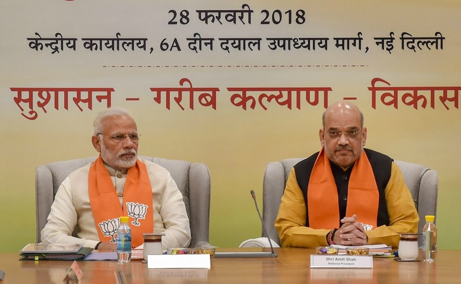 Narendra Modi and Amit Shah held discussions with chief ministers and deputy chief ministers of various BJP-ruled states, and discussed the possibility of holding simultaneous Lok Sabha and Assembly elections. PTI