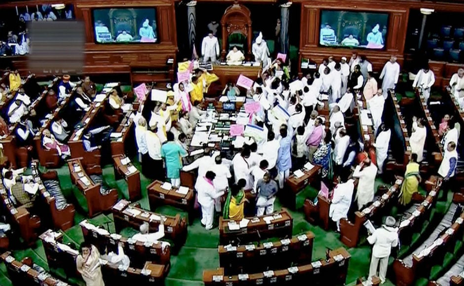 Lok Sabha: Protests by TDM and congress causes session to be adjourned