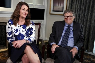 File Image of Bill Gates and his wife Melinda. Reuters