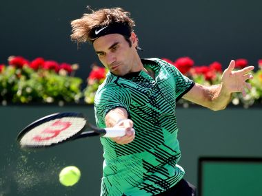 File photo of Roger Federer at the Indian Wells Masters. Reuters