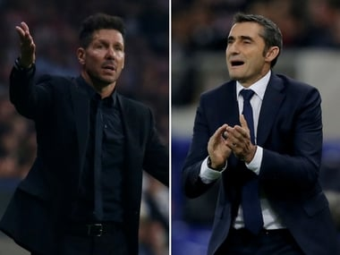 Diego Simeone's Atletico will aim to reduce the gap at the top of the table to two points. Reuters