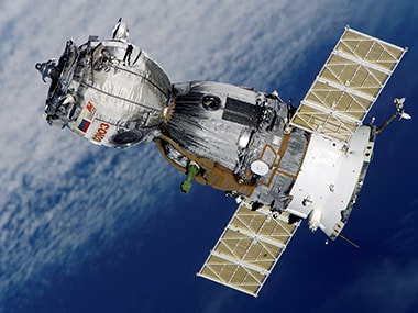 A Russian Soyuz capsule will carry three astronauts to the International Space Station on 21 March