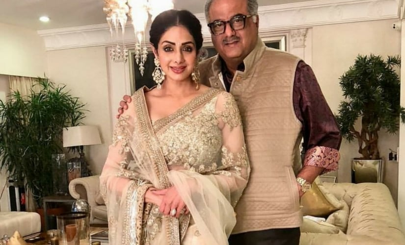 Sridevi and Boney Kapoor  Image from Twitter