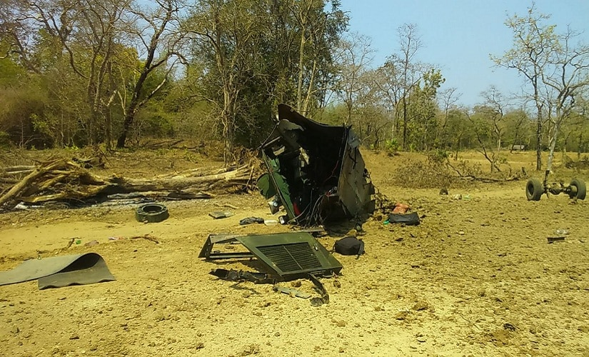 The IED tore through the mine protection Vehicle into pieces Pic procured by Debobrat Ghose