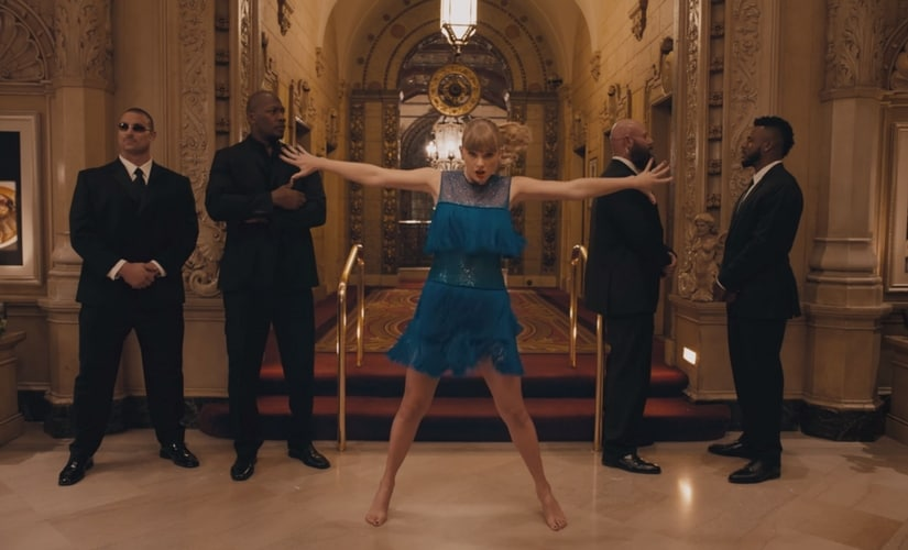 A still from Taylor Swift's music video for'Delicate'/Image from YouTube