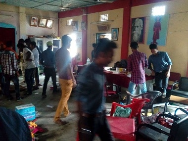 Students affiliated with ABVP ransacked the Dashrath Deb Memorial College in Khowai. Image courtesy: Ayub Sarkar/101Reporters