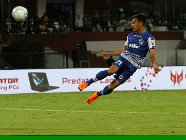 Udanta Singh in action against Kerala Blasters. ISL