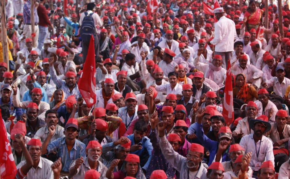 Leaders of farmers' organisations have said there will be a mega protest again in April. Firstpost/ Sachin Gokhale