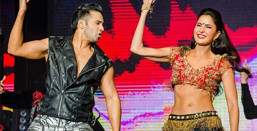 Varun Dhawan and Katrina Kaif during a performance. Image from Twitter/@KatrinaKaifFB