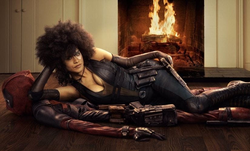 Zazie Beetz as Domino in a promo for Deadpool 2. Marvel
