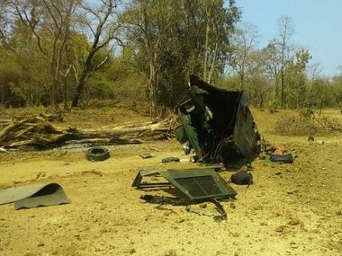 The site of IED blast by Naxals in Kistaram area of Chhattisgarh's Sukma. Image procured by Debobrat Ghose.